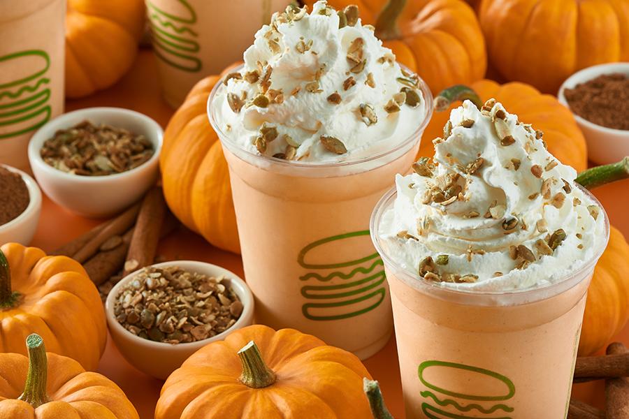 Holiday Pumpkin Shake at Shake Shack